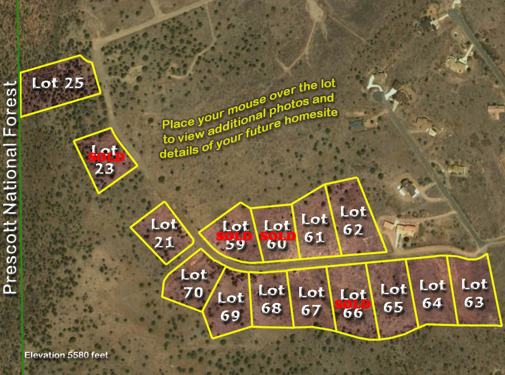 Map Home Lots in Prescott Arizona
